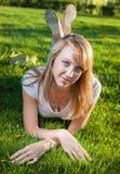 Blonde Grassonne Stockbild