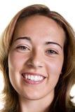 Blonde Great Smile Closeup Stock Photo
