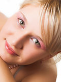 Blonde with green eyes Stock Photography