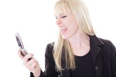 Blonde gritando Foto de Stock