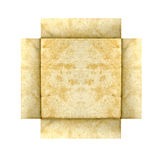 Blonde grunge paper frame Royalty Free Stock Photography