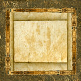 Blonde grunge paper frame Stock Photo