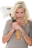 Blonde with guitar Royalty Free Stock Images