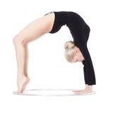 Blonde gymnast with hula hoop Stock Image