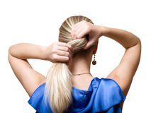 Blonde hair Royalty Free Stock Images