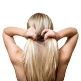Blonde hair Stock Images