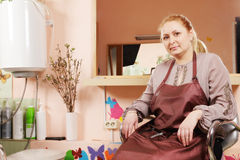 Hairdresser in chair Stock Photos