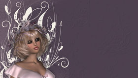 Blonde Haired Woman Background Stock Photos