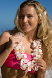 Blonde on Hawaii Royalty Free Stock Image