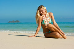Blonde on Hawaii Royalty Free Stock Photo