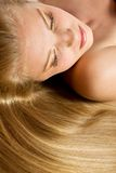 Blonde Healthy Hair. Stock Image