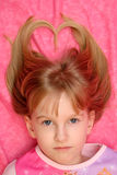 Blonde Heart Hair Stock Image