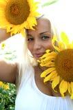 Blonde hermoso Foto de archivo