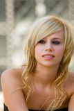 Blonde hermoso Fotografía de archivo