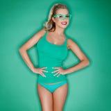 Blonde hermoso atractivo encantador Imagen de archivo libre de regalías