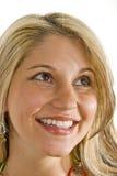 Blonde hermoso con sonrisa del deslumbramiento Imágenes de archivo libres de regalías