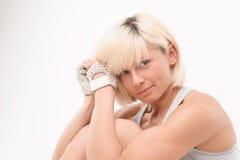 Blonde hermoso con una figura atlética Fotos de archivo libres de regalías