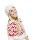 Blonde hermoso en ropa del invierno Imágenes de archivo libres de regalías