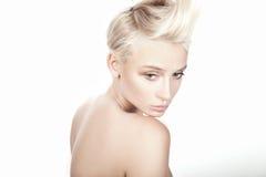Blonde hermoso joven Fotografía de archivo