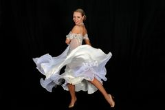 Blonde In Dance Stock Photo