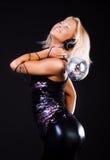 Blonde In Nightclub Stock Photos