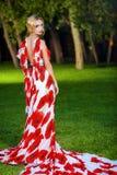 Blonde In Summer Park Stock Image