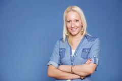 Blonde isolated casual wear Royalty Free Stock Photography
