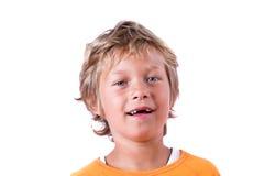 Blonde jongen royalty-vrije stock foto
