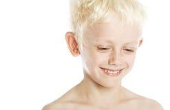 Blonde Jongen Royalty-vrije Stock Afbeeldingen