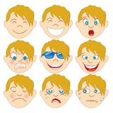 Blonde Jongen Emoticon Emoji royalty-vrije illustratie