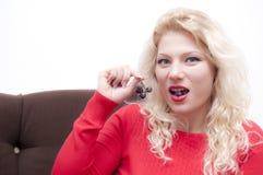 Blonde junge Frau Lizenzfreies Stockbild
