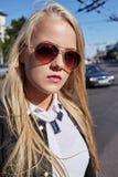 Blonde junge Frau Lizenzfreie Stockfotos