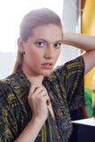 Blonde junge Frau. Portrait Lizenzfreie Stockfotografie