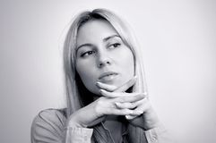 Blonde junge Frauen mit schönen Augen Lizenzfreie Stockbilder
