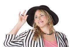 Blonde kaukasische Frau Lizenzfreie Stockfotos