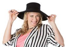 Blonde kaukasische Frau Stockbild