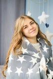Blonde kaukasische Frau Lizenzfreies Stockfoto