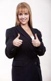 Blonde kaukasische Frau der attraktiven Zwanzigerjahre Lizenzfreie Stockfotos