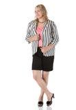Blonde kaukasische Geschäftsfrau Stockfoto