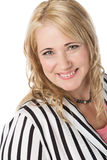 Blonde kaukasische Geschäftsfrau Stockfotografie