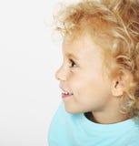 Blonde kid portrait Stock Photos