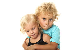 Blonde kids Royalty Free Stock Photography