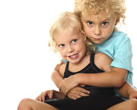 Blonde kids portrait Stock Photos