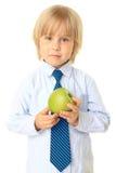 Blonde Kindholdingfrucht. Serie Stockbild