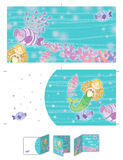 Blonde kleine Meerjungfrau Lizenzfreies Stockfoto