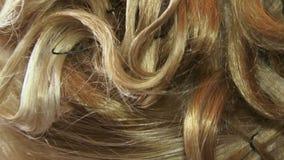 Blonde Krullen stock video