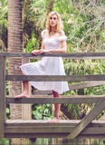 Blonde lady in the park Stock Photos