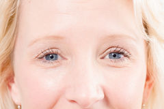 Blonde Lady`s Eyes stock photography