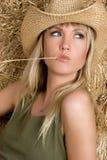 Blonde Land-Frau Stockfotografie
