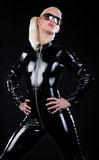 Blonde in latex suit Stock Photography